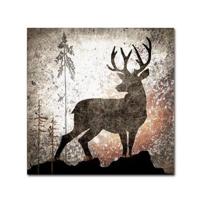 Calling Deer by LightBoxJournal Floater Frame Animal Wall Art 14 in. x 14 in.