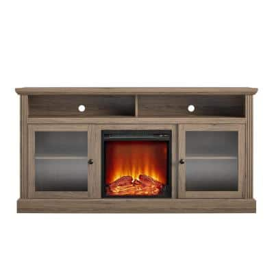 Nashville 62 in. Electric Fireplace TV Stand in Rustic Oak for TVs Up to 65 in.