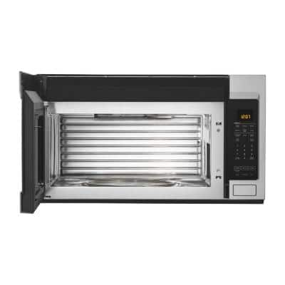 1.9 cu. ft. Over the Range Microwave with Dual Crisp Function in Fingerprint Resistant Stainless Steel