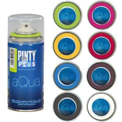 4 oz. 8 Color Assortment, Water Based Aqua Mini Spray Paint for Arts and Crafts, (8-Pack)