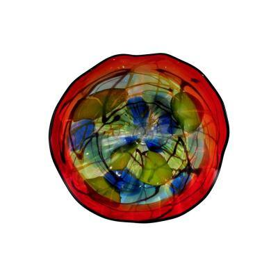 Hankley 4 in. Wall Art Decor with Hand Blown Art Glass Style