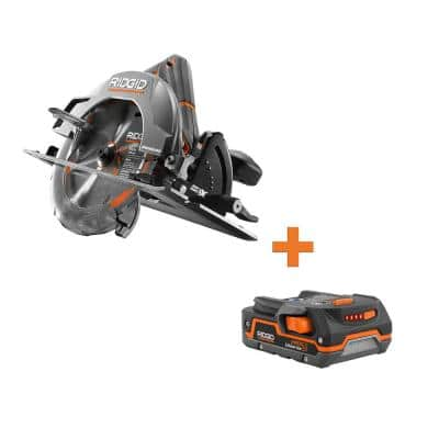 18-Volt Cordless Brushless 7-1/4 in. Circular Saw with 1.5 Ah Lithium-Ion Battery