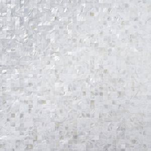 Mother Of Pearl Serene White Squares 12 in. x 12 in. Seamless Pearl Shell Glass Wall Mosaic Tile