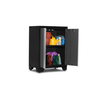 Steel Freestanding Garage Cabinet in Charcoal Gray (24 in. W x 35 in. H x 16 in. D)
