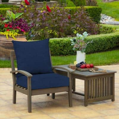 23 in. x 19 in. Sapphire Leala Texture 2-Piece Deep Seating Outdoor Lounge Chair Cushion