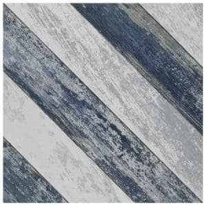 Cassis Sete Blue 9-3/4 in. x 9-3/4 in. Porcelain Floor and Wall Tile (11.11 sq. ft./Case)