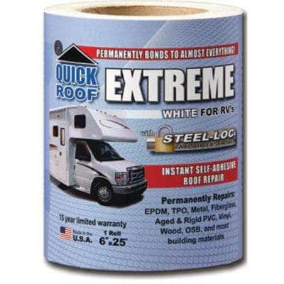 6 in. White Quick Roof Extreme Adhesive for RV