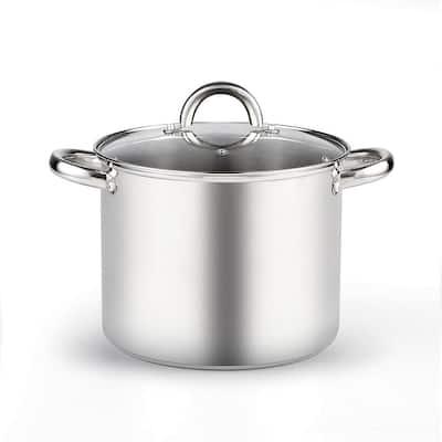Stainless Steel 4-Piece 8 Qt. Pasta Cooker Steamer Multi-Pots