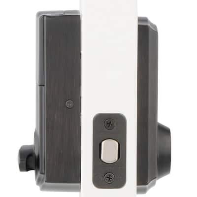 Z-Wave SmartCode 916 Touchscreen Venetian Bronze Single Cylinder Electronic Deadbolt Featuring SmartKey Security