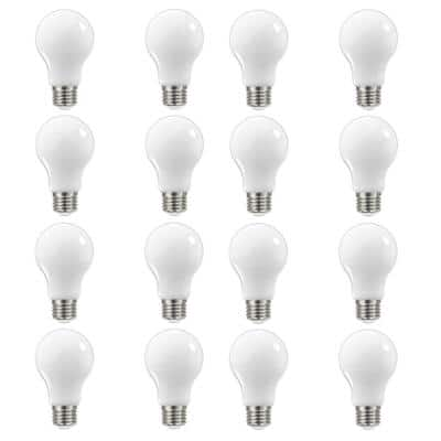 60-Watt Equivalent A19 Dimmable Frosted Filament LED Light Bulb Daylight (16-Pack)