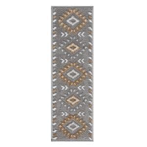 Traditional Collection Beige 9 in. x 28 in. Polypropylene Stair Tread Cover (Set of 7)