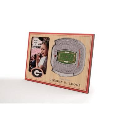 NCAA Georgia Bulldogs Team Colored 3D StadiumView with 4 in. x 6 in. Picture Frame