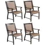 4-Piece Outdoor Aluminum Dining Chairs