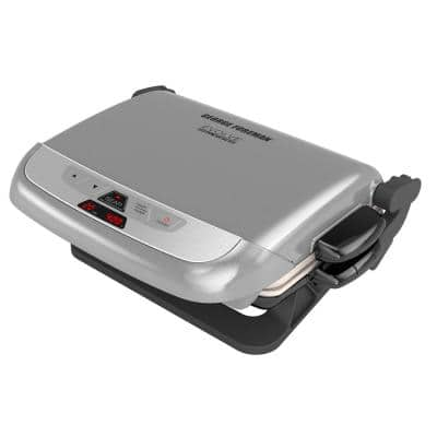 Evolve 144 sq. in. Platinum Ceramic Smokeless Indoor Grill with Removable Plates