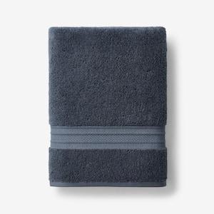 Cotton TENCEL Lyocell Sea Blue Solid Bath Towel