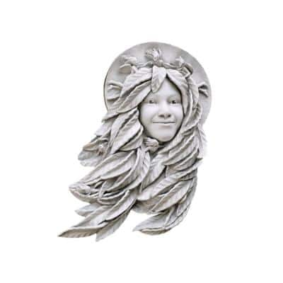 18 in. x 11 in. Daphne, Greenwoman Outdoor Wall Sculpture