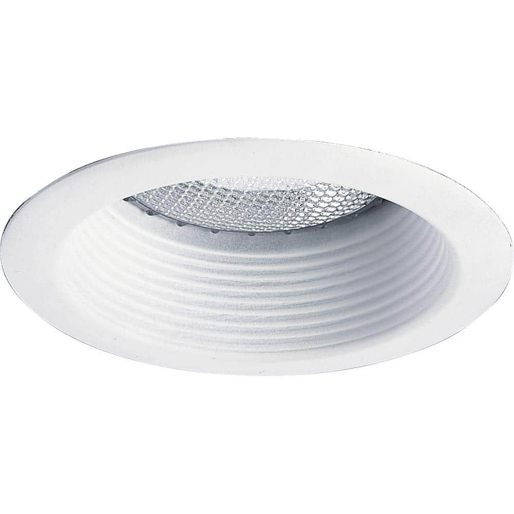 Progress Lighting 5 In White Recessed Shallow Baffle Trim P8375 28 The Home Depot