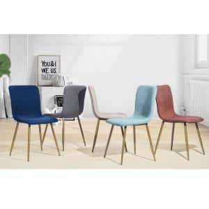 Scargill Gray Upholstered Textured Fabric Dining Chairs (Set of 4)