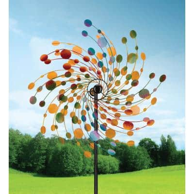 32 in. Rotating Kinetic Stake - Confetti