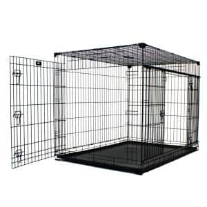 54 in. Double-Door Crate with Sliding Doors