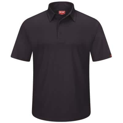 Men's Size 6XL Black Professional Polo