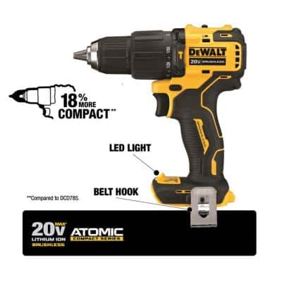 ATOMIC 20-Volt MAX Cordless Brushless Hammer Drill/Impact Combo Kit (2-Tool) with ATOMIC Compact Reciprocating Saw