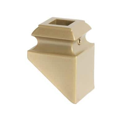 Dorado Gold 16.3.2 Angled Base Shoes for 1/2 in. Square 1.3 in. x 2 in. Iron Balusters for Stair Remodel