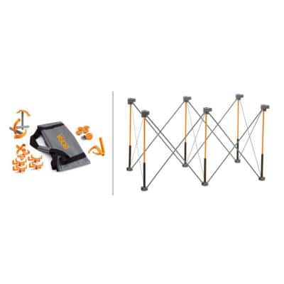 30 in. x 24 in. x 48 in. Steel Centipede Work Support Sawhorse with Exclusive Accessories