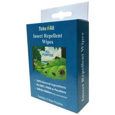 All Natural All Purpose Insect Repellent Wipes (6-Count Box)