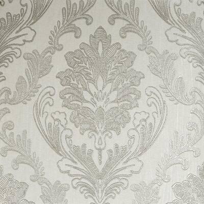 Corsetto Damask Grey/Silver Wallpaper Sample