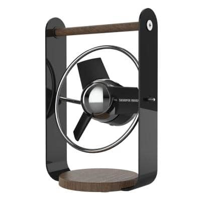 SBV1 USB Fan with 4 in. Soft Blades, 2 Speeds, Touch Control, 6 ft. USB Cable with Wall Adapter, Black