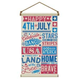 31 in. x 18 in. Large Patriotic Canvas Hanging Sign (2-Pack)