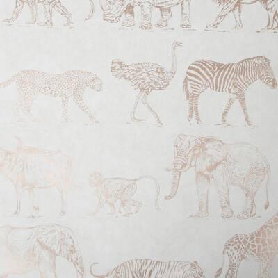 Safari Cream/Rose Gold Wallpaper Sample