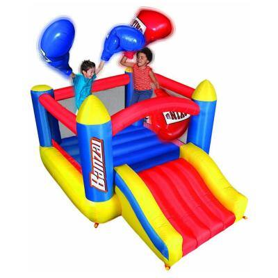 Large Kids Big Bop Inflatable Boxing Ring Bounce House Jumper with Slide