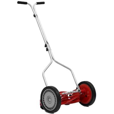 14 in. 5-Blade Manual Walk Behind Reel Lawn Mower