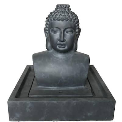 Buddha Fiberglass Reinforced Concrete Fountain