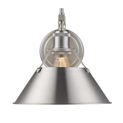 Orwell PW 1-Light Pewter Sconce with Pewter Shade