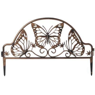 Bronze PlasticButterfly Design Fence Gard. Edging Landscape Border Path Panel(Pk of 6) 0.10 in.D x 19.5 in.W x 11.5 in.H