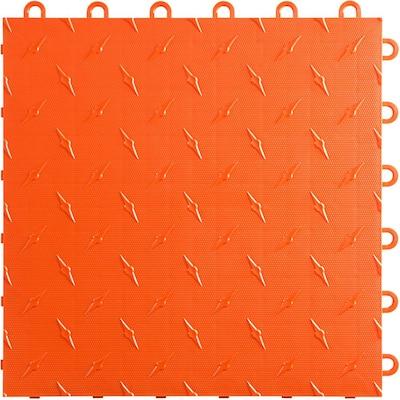 12 in. W x 12 in. L Tropical Orange Diamondtrax Home Modular Polypropylene Flooring (10-Tile/Pack) (10 sq. ft.)