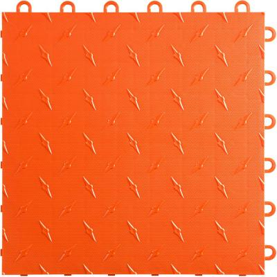 12 in. W x 12 in. L Tropical Orange Diamondtrax Home Modular Polypropylene Flooring (50-Tile/Pack) (50 sq. ft.)