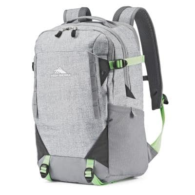 Takeover 6.5 in. Backpack with Laptop Pocket and Tablet Sleeve, Silver/Mint