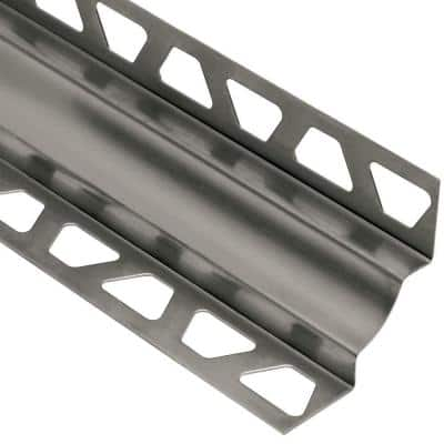 Dilex-EHK Stainless Steel 9/32 in. x 8 ft. 2-1/2 in. Metal Cove-Shaped Tile Edging Trim