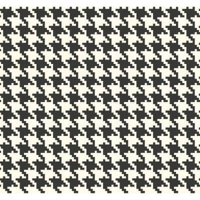 Houndstooth Checker Paper Strippable Roll (Covers 60.75 sq. ft.)