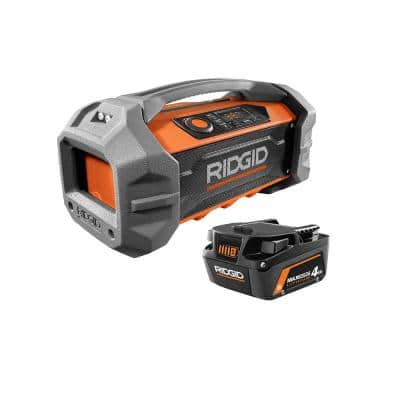 18V Hybrid Jobsite Radio with Bluetooth Wireless Technology and 18V 4.0 Ah MAX Output Battery