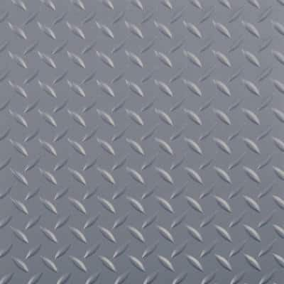 RaceDay Diamond Tread Slate Grey 12 in. x 12 in. Peel and Stick Polyvinyl Tile (20 sq. ft. / case)