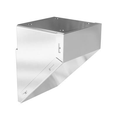 White Metal Mid/End/Stair Fascia Mount Bracket