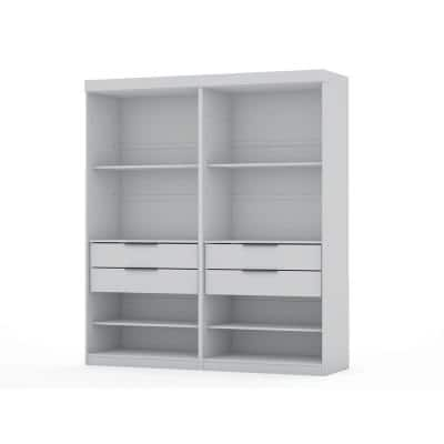 Ramsey White Open 2-Sectional Closet (Set of 2)