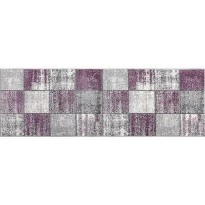 Lyanna Purple 2 ft. x 3 ft. Scatter Area Rug