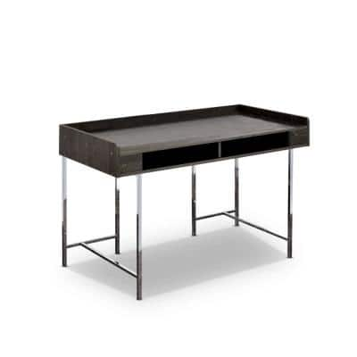 Burkette Brown and Chrome Writing Desk