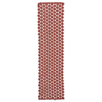 Crochet Envy 14 in. W x 60 in. L Ginger Spice Crochet Cotton Table Runner